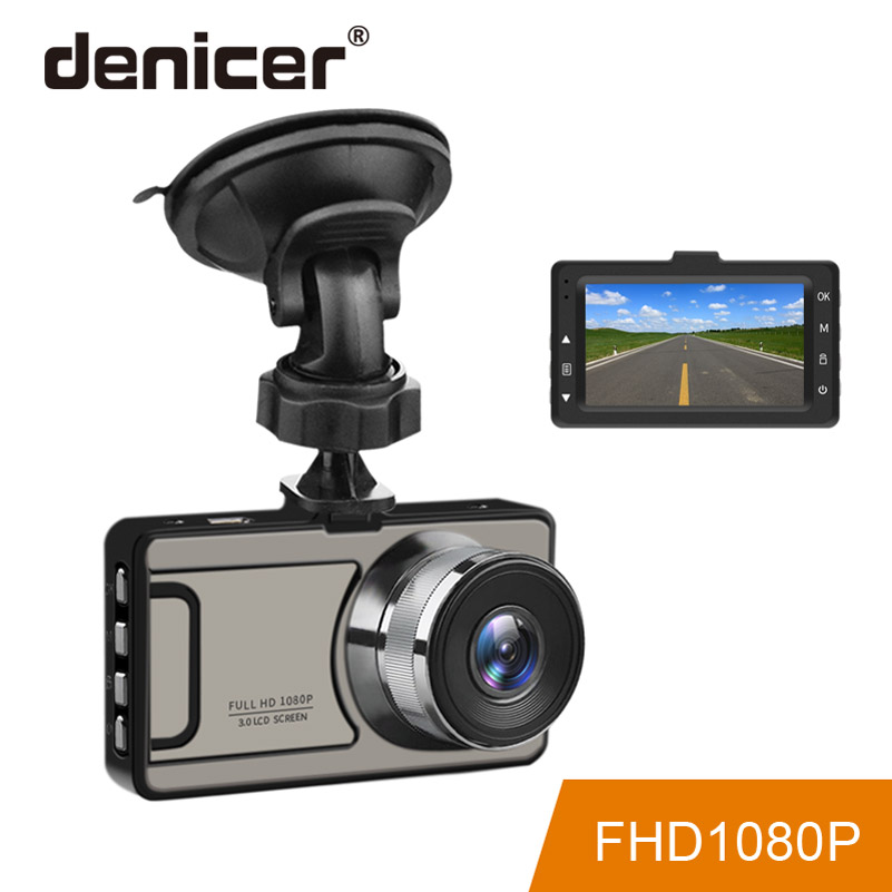 Denicer Dash Cam 3.0 Inch Screen Camera Full HD 1080P Car Vehicle Registrartor Video Recorder 170 Degree Wide Angle Car Dvr цена