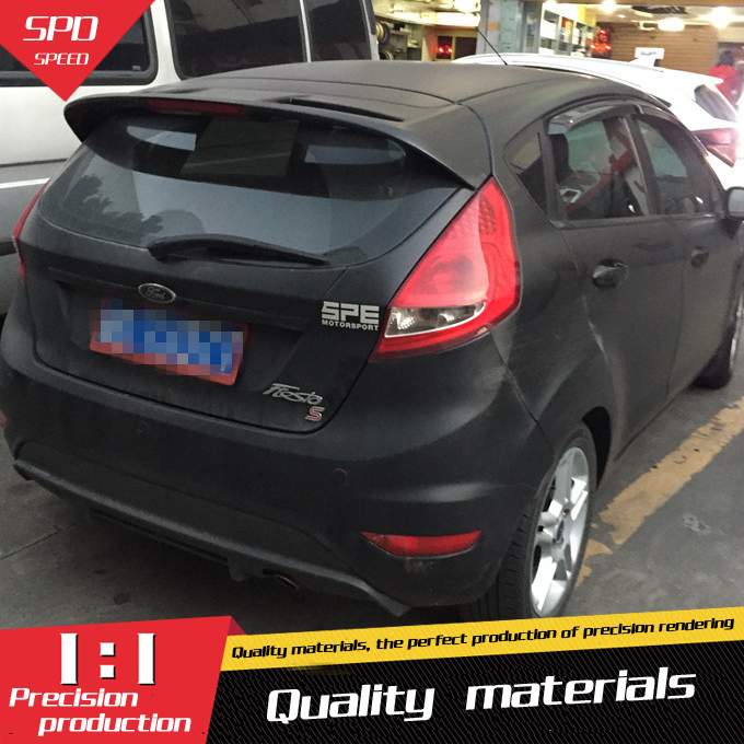 For Ford Fiesta Spoiler High Quality ABS Material Car Rear Wing Primer Color Rear Spoiler For Ford Fiesta Spoiler 2009-2013