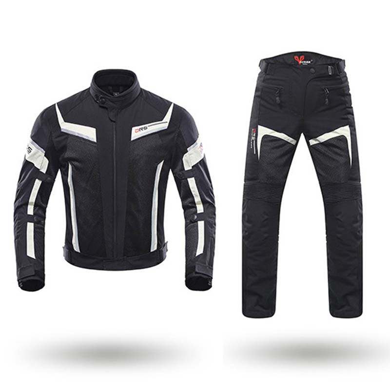 DUHAN Men Motorcycle Jacket Pants Summer Motocross Breathable Clothing Suits Motorbike Moto Jacket Pants Trousers Protection