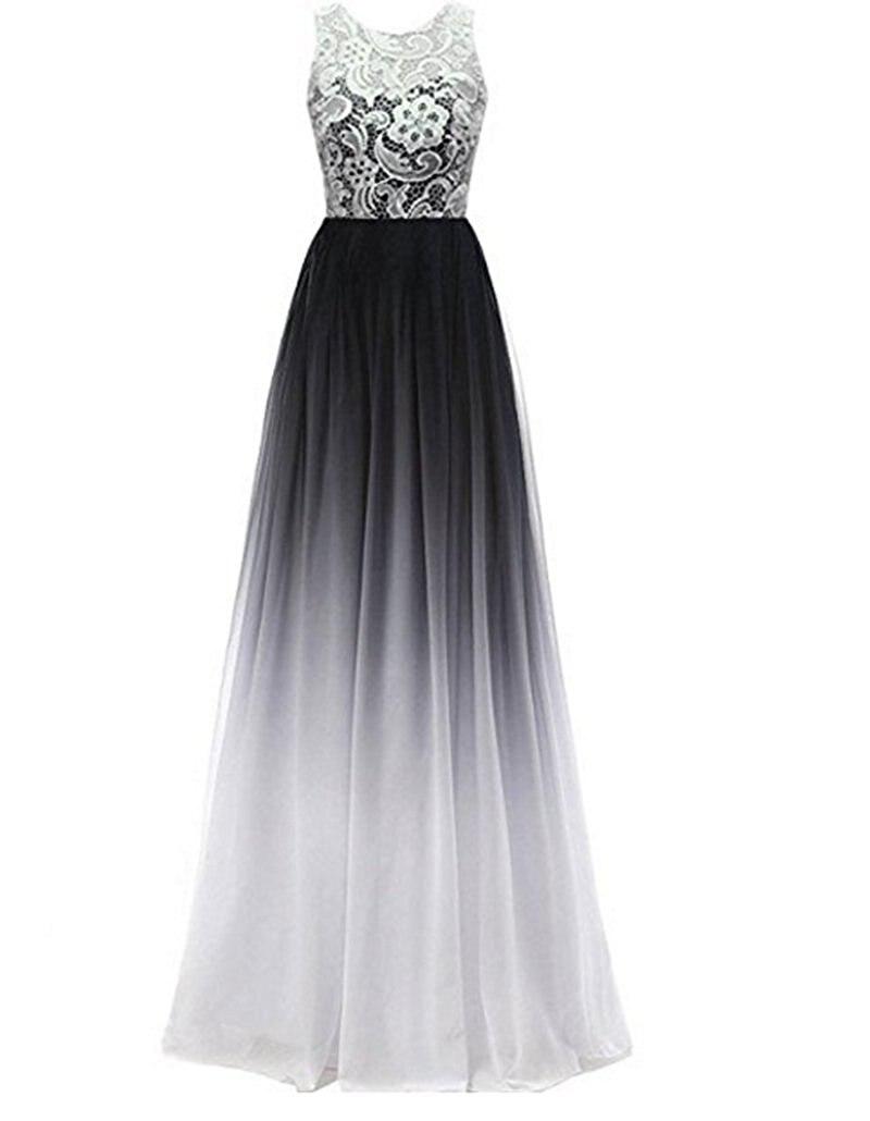 Bealegantom 2018 Gradient Chiffon Lace Prom Evening Dresses Zipper Plus  Size Ombre Party Gowns Vestido Longo QA1245-in Prom Dresses from Weddings    Events ... 44c52fd75dbb