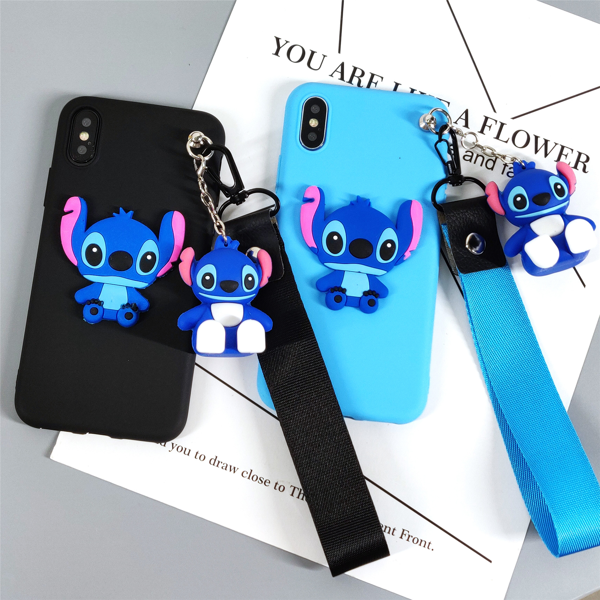 Ultra Slim Fit Soft Tpu Blue Stitch Funda Para iPhone Xr 6.1