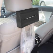 WCIC PU кожаные коробки для бумажных салфеток держатель Автомобильный солнцезащитный козырек Kleenex ящики салфетки держатель автобумага Чехол Органайзер держатель для полотенец