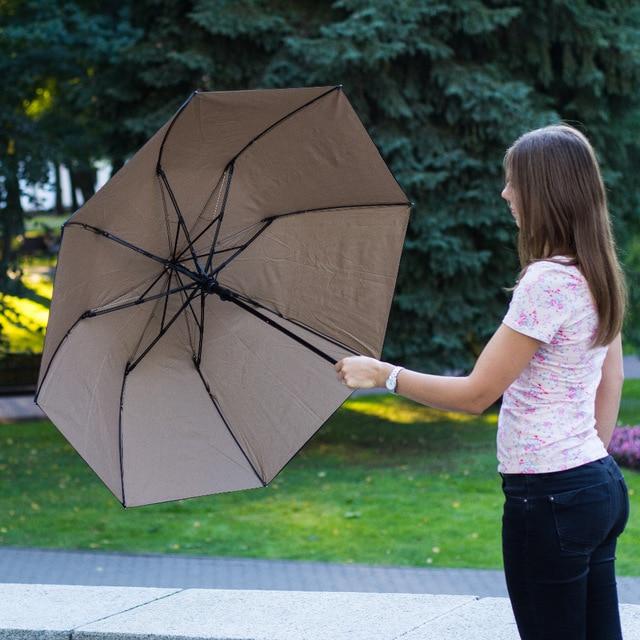 113cm 2pcs lot 75T parasol visible double layers double bridge carbon fiberglass two fold auto open