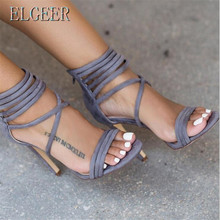 2018 new summer high heel sandals Roman zipper strap hollow fashion sexy women