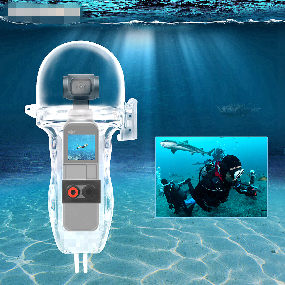 Waterproof Case Underwater Photography DJI Osmo Pocket Diving Housing Protective Shell Surfing Camera Accessories Expansion Kit in Drone Accessories Kits from Consumer Electronics