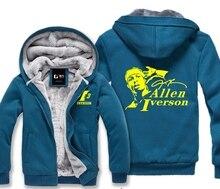 Allen Iverson Male Jackets Sweatshirt Men Winter Hoodies Cute Casual Hoody Cloak Shawl Man Cloth Keep