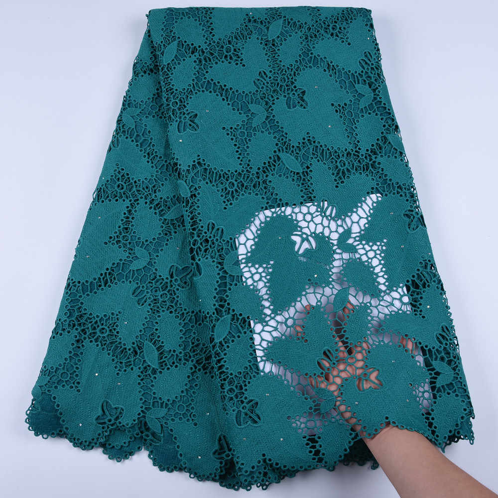 High Quality African Tulle Guipure Cord Lace Fabric Latest Nigerian French Network Cord Lace Fabric With Stones For Dress F1668