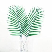 Artificial Palm Tree10PCS  Faux Leaves Green Plants Greenery for Flowers Arrangement artificial flowers Wedding Decoration