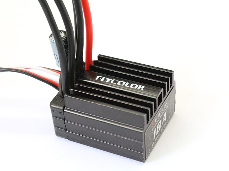 Flycolor Car ESC 18A Brushless Electronic Speed Controller For Remote Control Board Car Toy Cars Trucks Climbing Car Accessories brushless esc 2s 5a electric speed controller