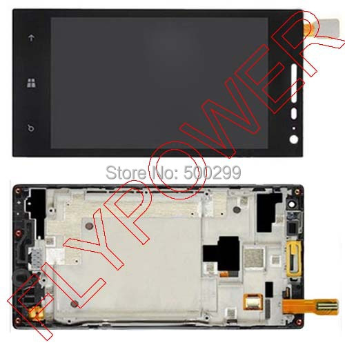 ФОТО 100% warranty lcd display + touch screen digitizer assembly with Frame  for huawei w1 by Free Shipping