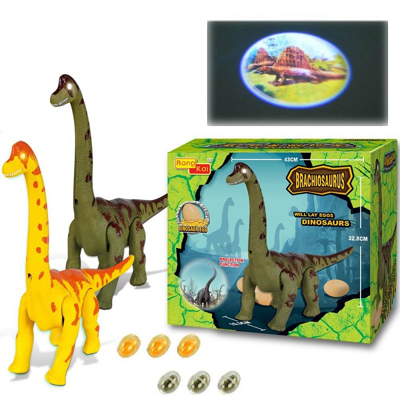 Jurassic Park Lost World Electric light projection will lay eggs Dinosaurs Toys crawling Long necked Electric