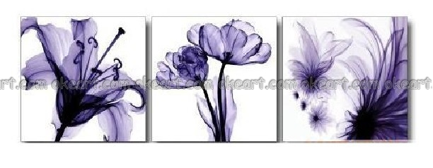 100 Hand Painted Free Shipping The Bleak Flower Of Three Different Types Hotel Decoration Art