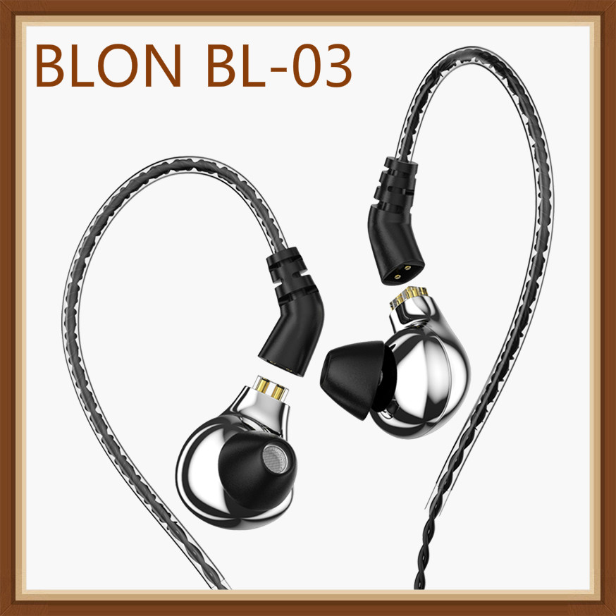 BLON BL-03 10mm Carbon Diaphragm Dynamic Driver In Ear Earphone HIFI DJ Running Sport Earphone Earbuds Detachable 2PIN Cable image