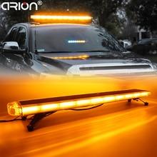 "47"" COB LED Car Roof Flashing Strobe Emergency Light Bar DC 12V 24V Truck Police Fireman Warning Lights LightBar Amber"