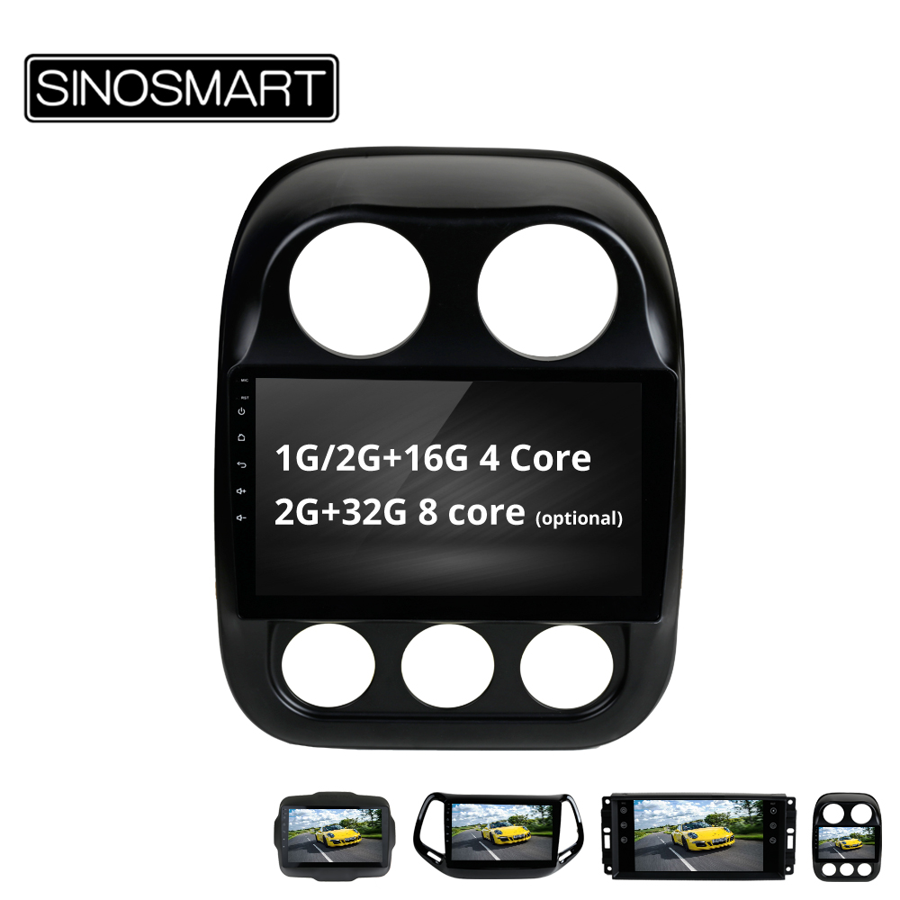 SINOSMART 4 Core 8 Core CPU 2G RAM Android 8 1 Car GPS Navigation Player for