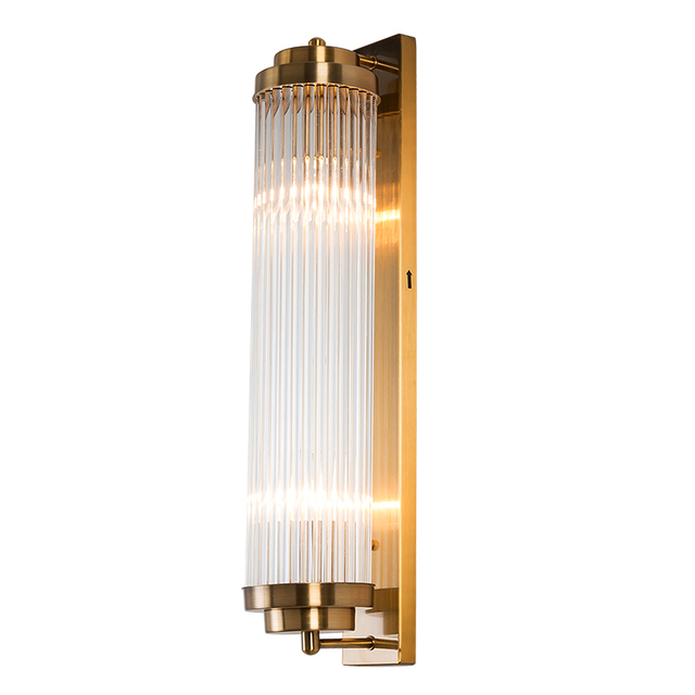 American rectangle wall lamp simple living room background wall villa model room balcony courtyard wall lamp