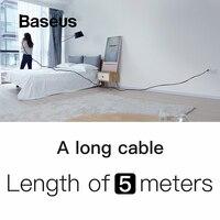 Удивительная длиной 5 м кабель Baseus обновления Тип usb C кабель Поддержка быстрой зарядки для samsung galaxy note 9 s9 s8 плюс Тип передавать данные и заряд...