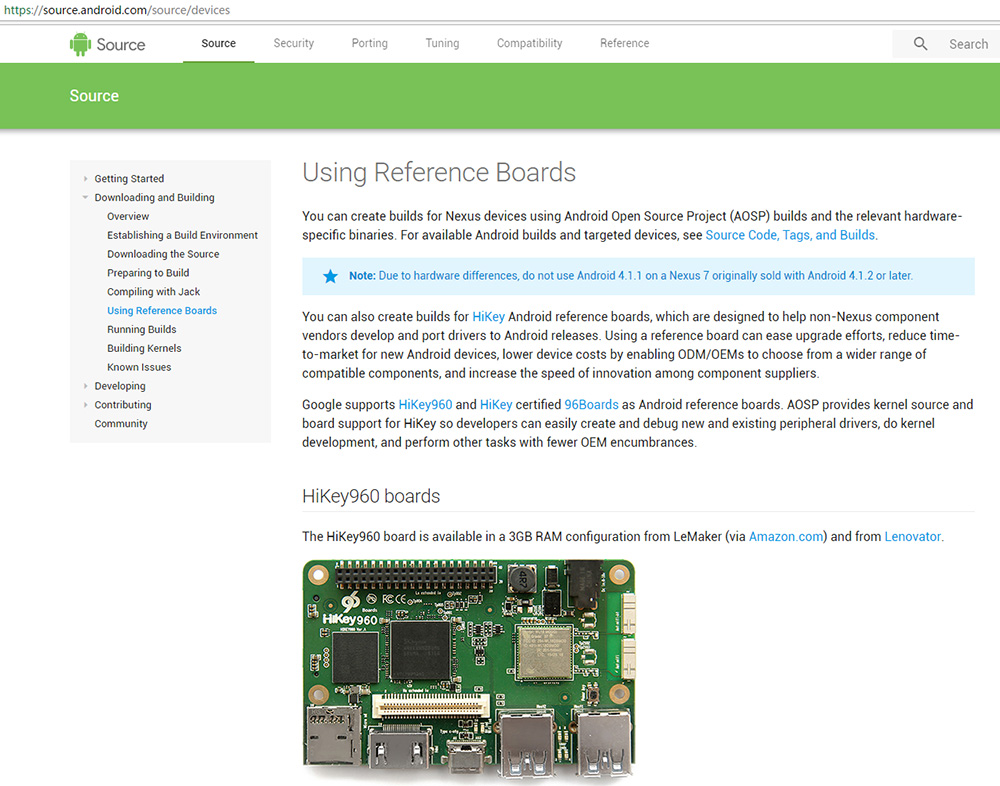 HiKey960 Single Board Computer - 96Boards demo board