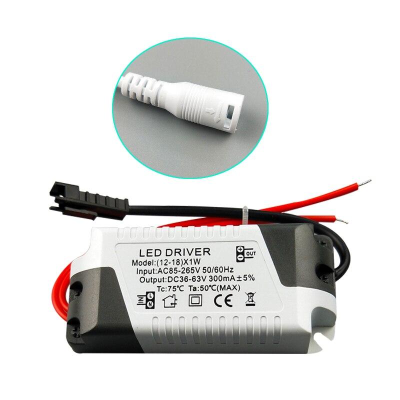 3 W-36 W Controlador LED 85-265V 300mA transformador de luz adaptador de fuente de alimentación de corriente constante para lámparas Led iluminación de tira 1 Uds linterna convoy linterna Lanterna conductor nuevo Firmware 7135x3/7135x4/7135x6/7135 8x17mm de accesorios de iluminación