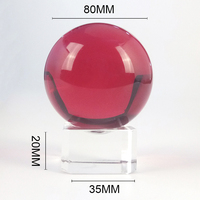 1 Piece k9 Crystal Ball Asian Rare Magic Healing Sphere with Free Stand Glass Craft 80mm Fengshui for Decoration
