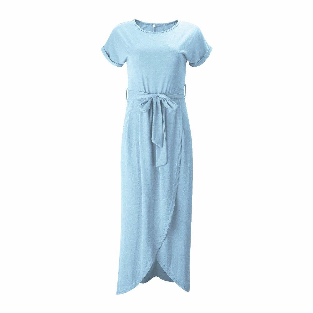 Belva Women\'s Long Maxi Dress Bohemian Split Skirt Belt Dresses ...