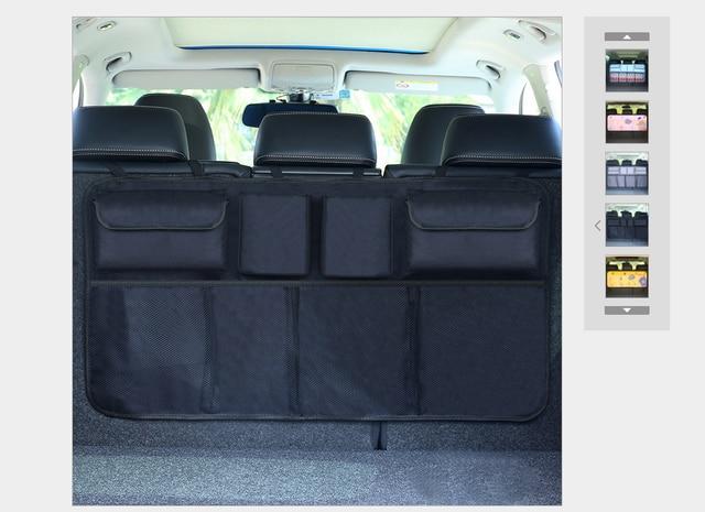 Assento de carro Organizador De Armazenamento De Volta Saco de tecido oxford Bagagem Titular Forte Fita Mágica Sólida Organizador Mala Do Carro Estilo Do Carro Mais Novo