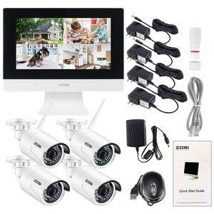 "Image 5 - ZOSI 4CH CCTV מערכת אלחוטי 960P 10 ""LCD NVR אבטחת מצלמה מערכת 1.3MP IR חיצוני P2P Wifi IP מצלמה מעקב ערכת 500GB"