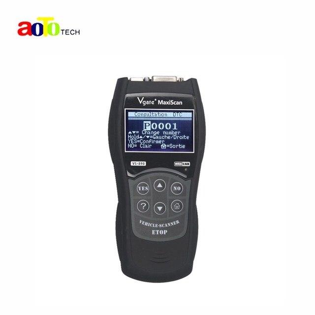 Высокая Рекомендовать 2016 Новый Vgate MaxiScan VS890 Универсальный Диагностический Инструмент многоязычная Авто Scantool MaxiScan VS 890 OBD2 Сканер