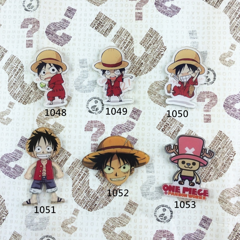MIX ONE PIECE Cartoon Icons On The Pin Kawaii Icon Badge Bacges On Backpack Badges For Clothing Decorations Acrylic Badge