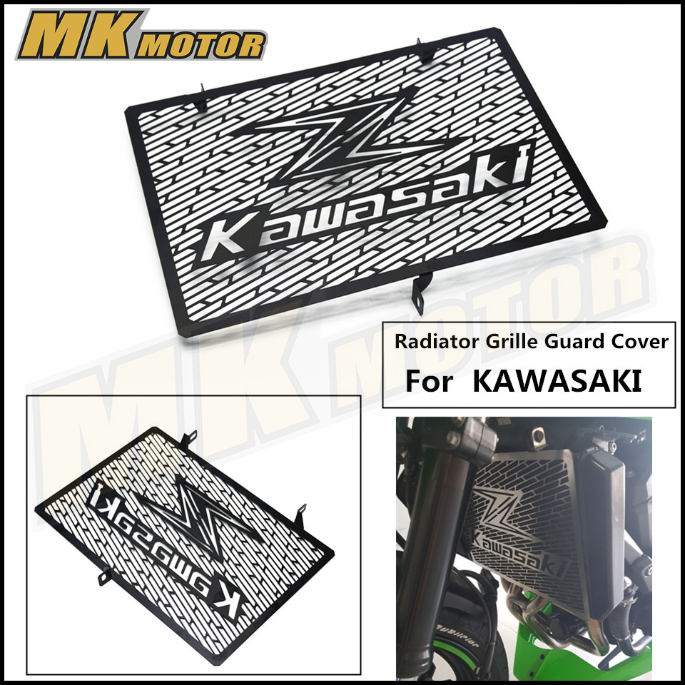 Stainless Steel Motorcycle Radiator Grille Guard Cover Protector For Kawasaki Z750 08-13 Z800 13-15  Z1000  03-16 for kawasaki z900 2017 motorcycle radiator guard gloss stainless steel grille bezel radiator net protective cover