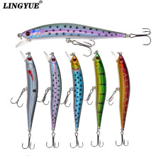Купить с кэшбэком New Arrival 1pcs Minnow Fishing Lures Quality Lifelike 5 Colors Available 10cm/8.5g Wobblers Fishing Tackle Crankbait Hard Baits