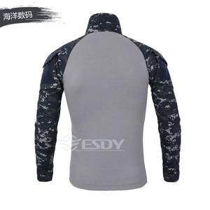 Image 4 - 2020 exército dos eua tático militar uniforme airsoft camuflagem combate camisas comprovadas assalto rápido manga longa camisa batalha greve