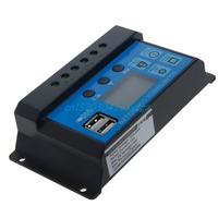 Battery Regulator Charge Controller Dual USB Solar Panel 12/24V LCD PWM 10/20/30A #H028#