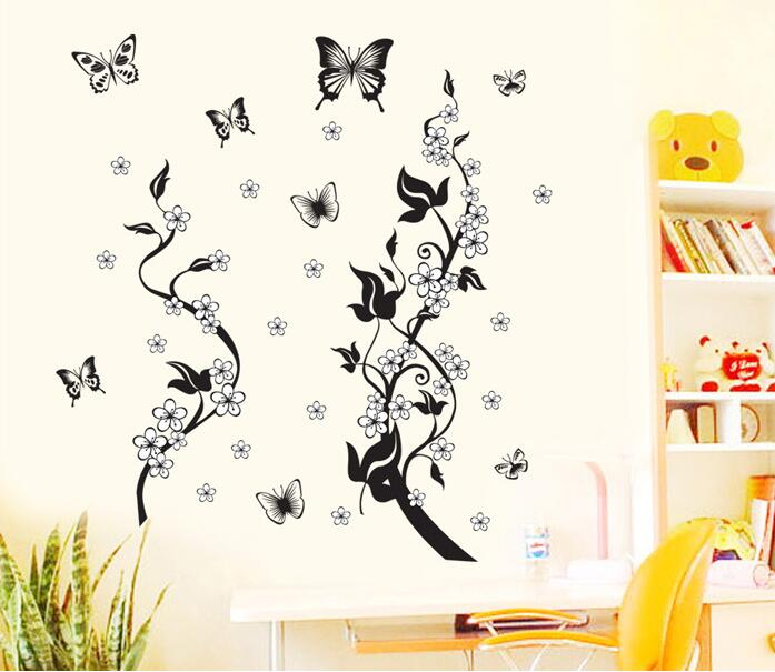 Diy Removable Cartoon Wall Stickers Home Decor Kids Girls Tree Bedroom Butterfly Decoration Kitchen Decals Pegatinas