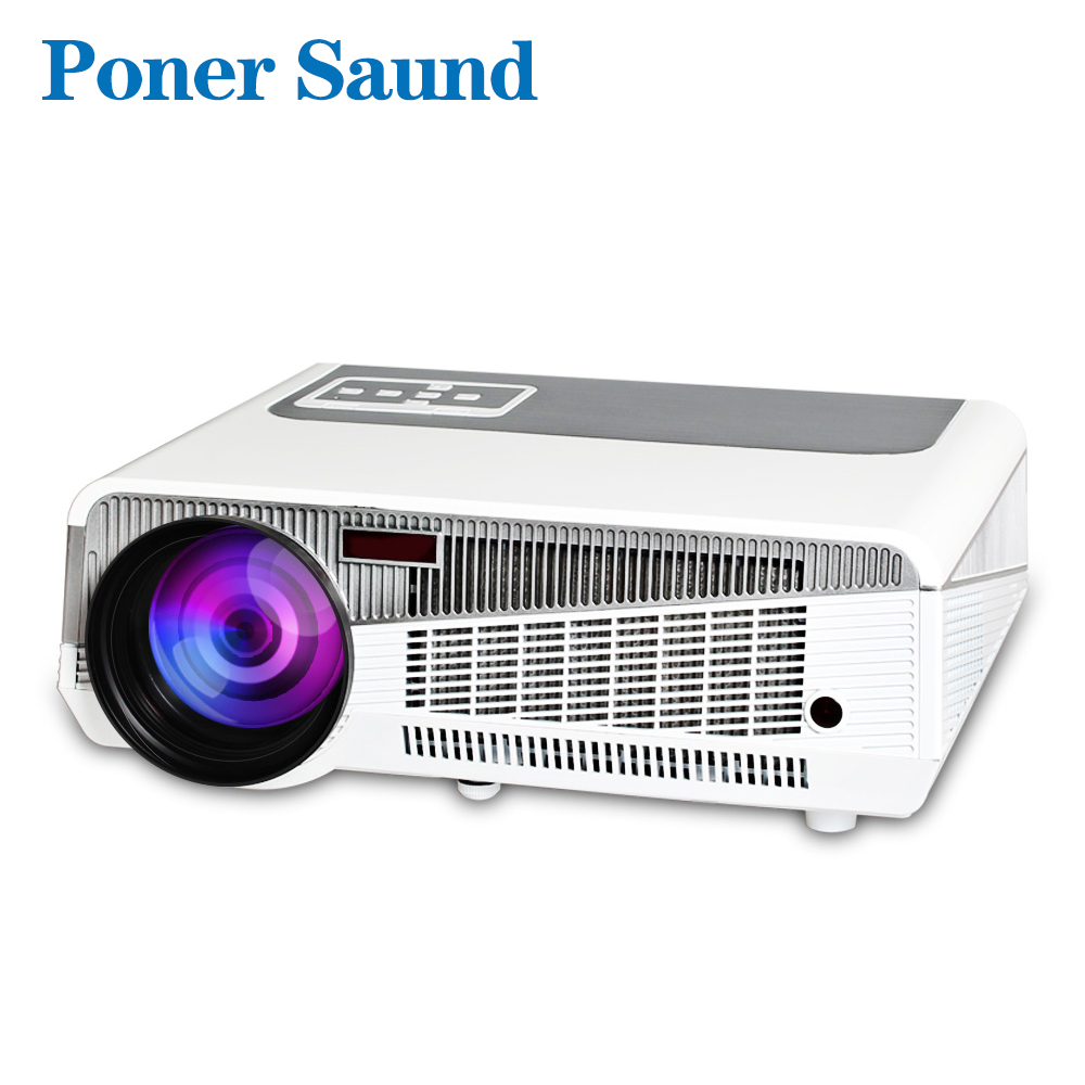 Poner Saund LED 86+ Android Projector for Home Theate Business 4800 Lumens Bluetooth Support FULL HD 1080P VGA HDMI WIFI Beamer poner saund lcd gp12 led mini projector for home theater support full hd 1080p hdmi usb sd