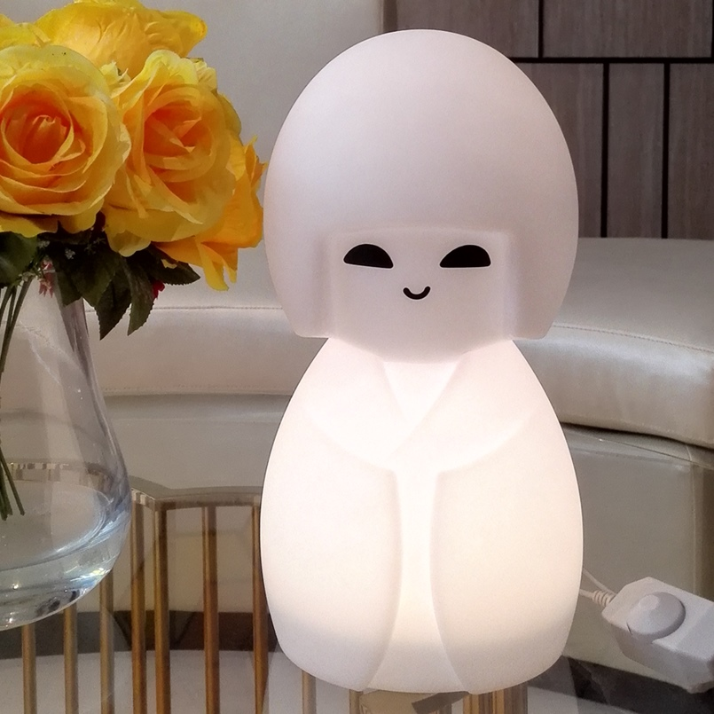 1ca14c34a79 Japan Kokeshi Led Night light Traditional Kimono Doll Girls Home Desk  Decoration Ornaments Crafts Gifts Cartoon Table Lamp