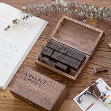цена на 70 pcs/Set Number Letter English decoration stamp set wooden rubber stamps for scrapbooking stationery DIY craft standard stamp