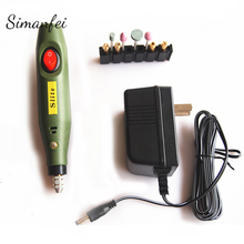 цена на 10W Mini Electric Variable Speed Drill Grinder Rotary Tool Electric Mill Pen
