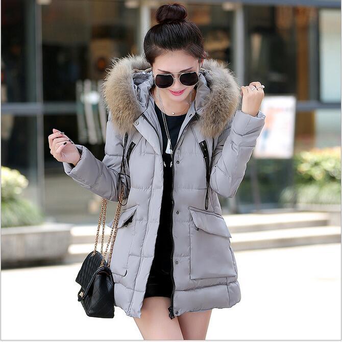 Autumn Jacket Women 2016 New Winter Womens Parka Casual Outwear Hooded Coat Coats Manteau Femme Woman