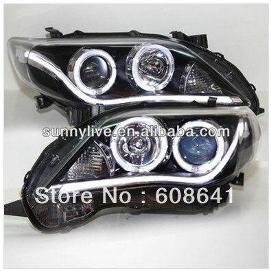 A8 Стиль Corolla Altis Светодиодные ленты Angel Eyes фара 2011 2012 год yz