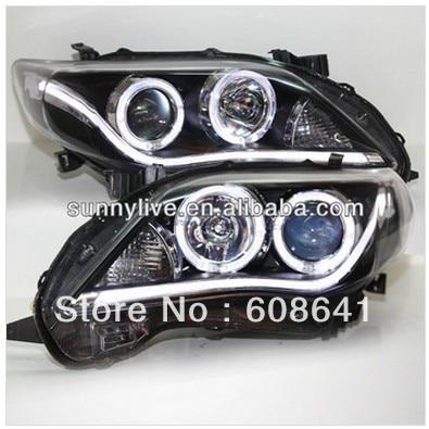 A8 Style Corolla Altis LED Strip Angel eyes head lamp 2011-2012 year YZ