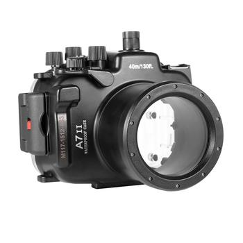Meikon A7II A7R II Waterproof Housing Case 40M 130ft For Sony A7 A7R A7S II + Dome Port Lens,SeaFrogs WA-5 Wire Angle Dome Port