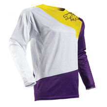 Brand  New Fight color Moto GP Mountain Bike Motocross for men Long sleeves Jersey BMX DH T Shirt Clothes orange