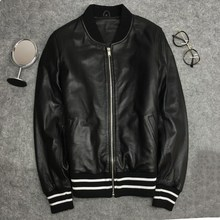 Men/women High quality real leather jackets Chic sheepskin bomber coat Womens casual G037