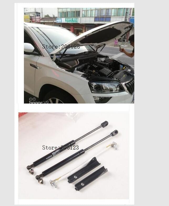 Car Front Hood Engine Cover Hydraulic Rod Strut Spring Shock Bar 2Pcs Set For Skoda Karoq