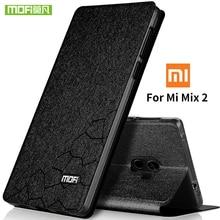 original Mofi phone case For Xiaomi Mi Mix 2 Ultra thin flip luxury stand leather back cover For Xiaomi Mi Mix 2