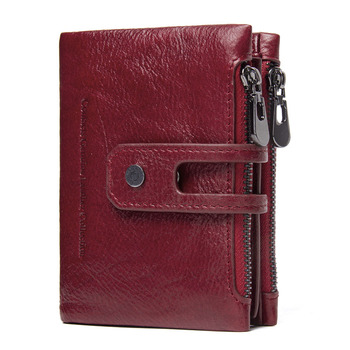 Genuine Leather Short Wallet Bags and Wallets Best Seller Hot Promotions Women's Wallets Color: Red Ships From: Russian Federation