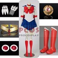 Best Set ~ Tsukino Usagi Serena From Sailor Moon Cosplay Costume & Shoes mp000139