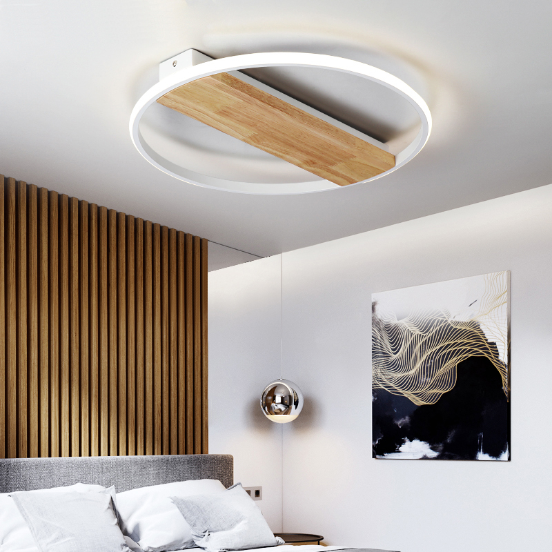 MDWELL Nordic Modern wooden led Ceiling Lights for bedroom living room ceiling mounted lamps remote control Lighting FixturMDWELL Nordic Modern wooden led Ceiling Lights for bedroom living room ceiling mounted lamps remote control Lighting Fixtur
