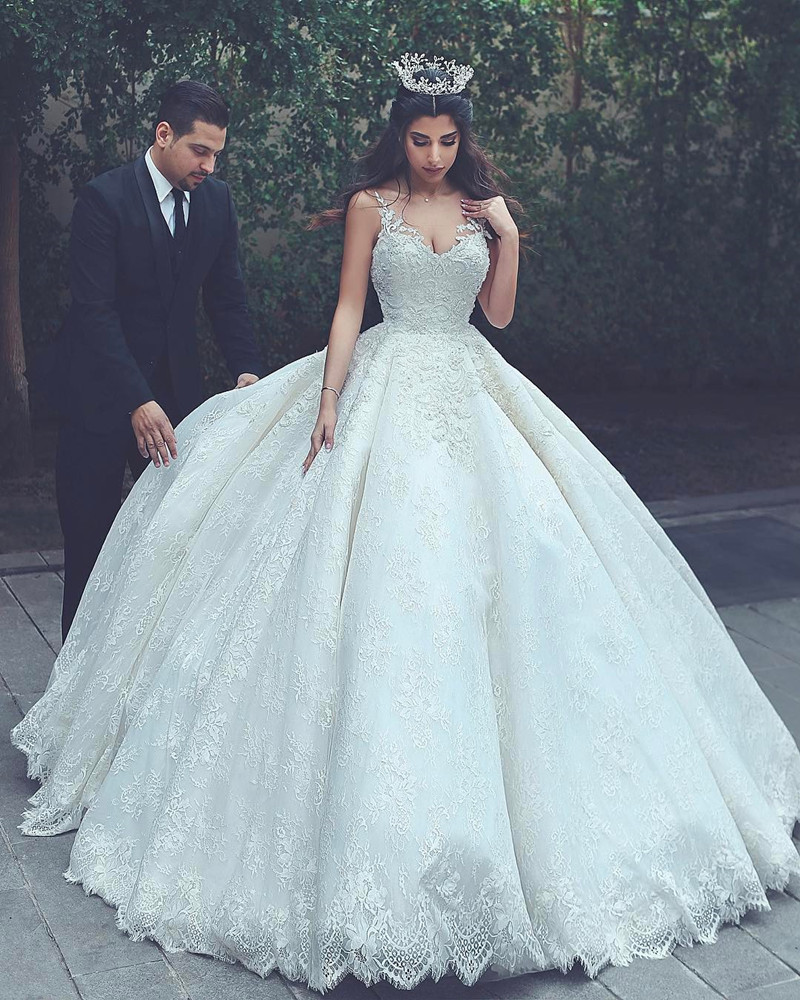 us $186.48 16% off|vestido de novia sexy elegant vintage sweetheart lace  luxury ball gown wedding dresses in turkey plus size bride wedding gown-in